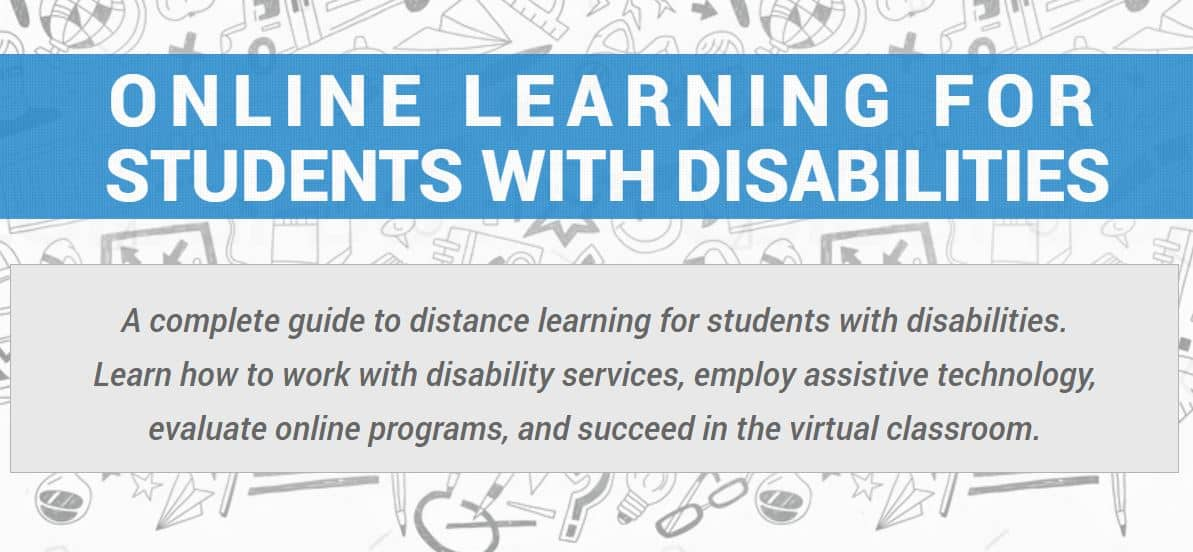 ONLINE LEARNING FOR STUDENTS WITH DISABILITIES